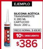 Oferta de Silicona por $386
