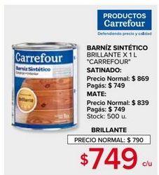 Oferta de Barniz sintético Carrefour por $749
