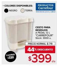 Oferta de Cesto de basura Carrefour por $399