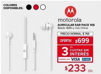 Oferta de Auriculares Motorola por $699