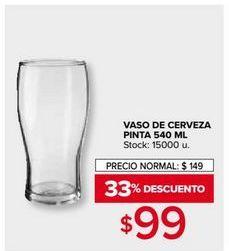 Oferta de Vaso de cerveza por $99