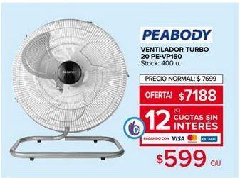 Oferta de Ventiladores Peabody por $7188