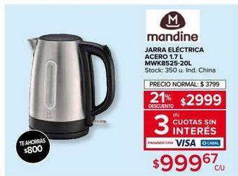 Oferta de Pava electrica Mandine por $2999