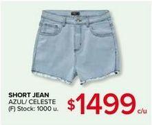 Oferta de Short jeans de mujer por $1499