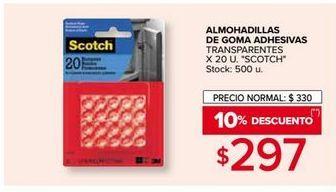 Oferta de Almohadillas de goma adhesivas por $297