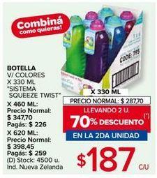 Oferta de Botella de agua por $187