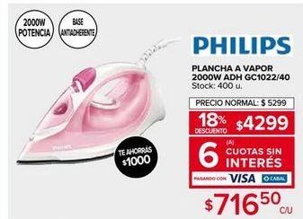 Oferta de Plancha de vapor Philips por $4299