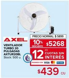 Oferta de Ventiladores Axel por $5268