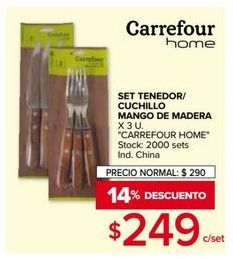 Oferta de Tenedor/ cuchillo Carrefour home por $249