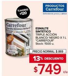 Oferta de Esmalte sintético Carrefour por $749