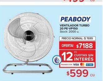 Oferta de Ventilador de pared PEABODY  por $599