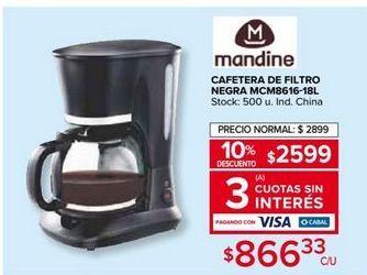 Oferta de Cafetera Mandine por $2599