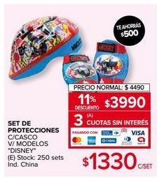 Oferta de Protecciones para patinar Disney por $3990