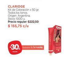 Oferta de Kit de Coloración x 50 gr. CLARIDGE por $155,75