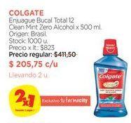 Oferta de Enjuague Bucal Total 12 Clean Mint Zero Alcohol x 500 ml.Colgate por $205,75