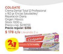 Oferta de Crema Dental Total 12 Professional x 162 gr. Colgate por $178