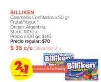 Oferta de Caramelos Confitados x 50 gr. Billiken por $35