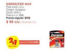 Oferta de Pilas AAA x 2 u. Energizer Max por $96