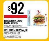 Oferta de Medallones de carne CHACRA NUESTRA 4 un por $92