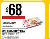 Oferta de Salchichas Paty por $68