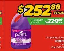 Oferta de Limpiadores Poett por $252,88