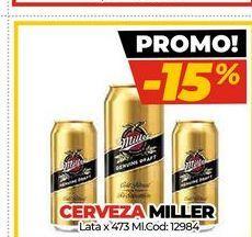 Oferta de Cerveza Miller por
