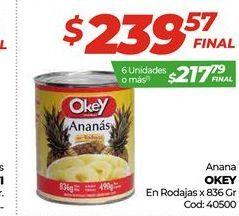 Oferta de Ananás Okey en rodajas por $239,57
