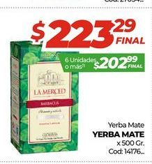 Oferta de Yerba mate x 500gr  por $223,29
