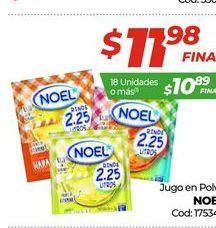 Oferta de Jugo en polvo Noel por $11,98