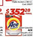 Oferta de Jabón líquido Ace pouch x 3lt por $352,28