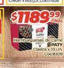 Oferta de Hamburguesas de carne PATY clasica x 20un. por $1189,99