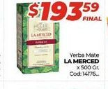 Oferta de Yerba mate La Merced x 500gr  por $193,59