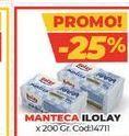 Oferta de Manteca Ilolay x 200gr por