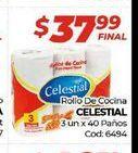 Oferta de Rollo de cocina Celestial 3 un. x 40paños  por $37,99