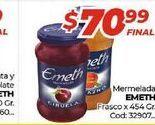 Oferta de Mermelada Emeth frasco x 454gr  por $70,99