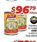 Oferta de Palmitos Okey en cubos x 400gr  por $96,79