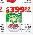 Oferta de Jabón líquido Ariel pouch x 3lt  por $399