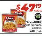 Oferta de Choclo Okey amarillo en grano x 300gr  por $47,19