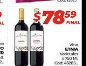 Oferta de Vino Etnia varietales x 750ml  por $78,59