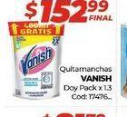 Oferta de Quitamanchas Vanish DOYPACK X 1,3LT  por $152,99