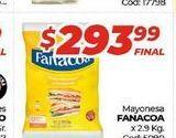 Oferta de Mayonesa Fanacoa x 2,9kg por $293,99
