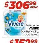 Oferta de Suavizante Vivere doypack x 3lt  por $306,99