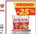 Oferta de Yogur Ilolay x 190gr por
