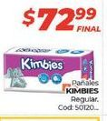 Oferta de Pañales KIMBIES regular por $72,99
