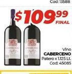 Oferta de Vino Caberceno patero x 1,1125lt  por $109,99