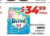 Oferta de Jabon en polvo Drive x 400gr  por $34,99