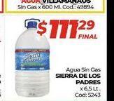 Oferta de Agua sin gas DIERRA DE LOS PADRES por $111,29