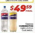 Oferta de Gaseosas CUNNINGTON light x 2,25lt  por $49,59