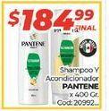 Oferta de Shampoo y acondicionador Pantene x 400gr  por $184,99