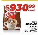 Oferta de Cafe Nescafé Dolca x 1kg  por $930,99